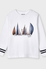 Mayoral L/S Boats Tee White