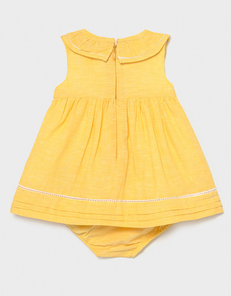 Mayoral Linen Dress Yellow