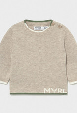 Mayoral Knit Sweater Beige