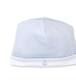 Kissy Kissy Classic Treasures Hat w Embroidery Blue NB, Small