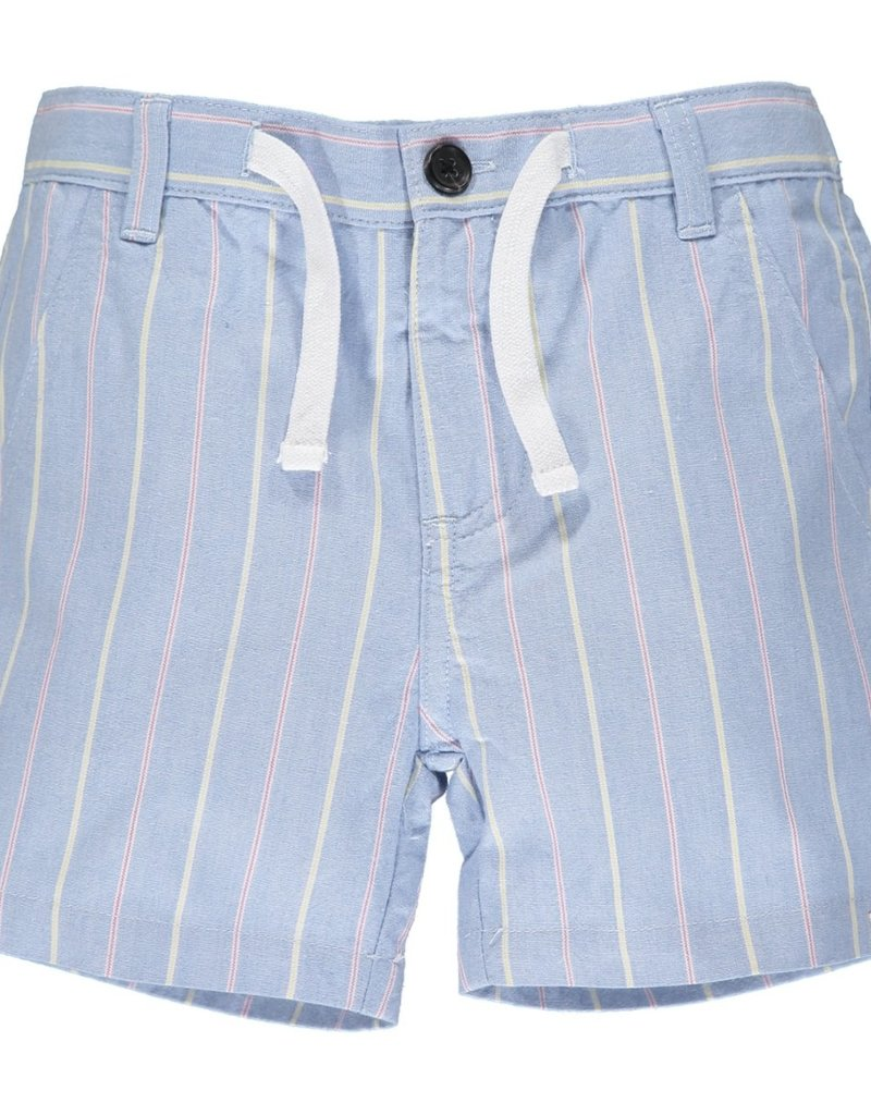 Me & Henry Crew Shorts Blue/Red/Yellow Stripe