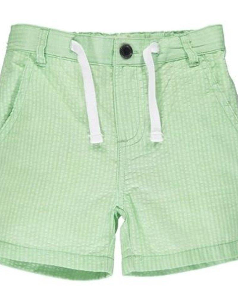 Me & Henry Crew Shorts Lime Seersucker