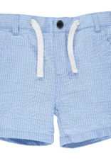 Me & Henry Crew Shorts Pale Blue Seersucker