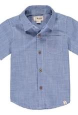 Me & Henry Harbour S/S Shirt Deep Sea Blue Plaid