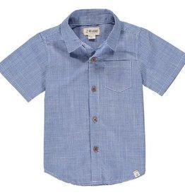 Me & Henry Harbour S/S Shirt Deep Sea Blue Plaid 6/7-9/10