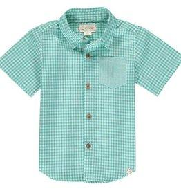 Me & Henry Harbour S/S Shirt Sea Grass Green Plaid 2/3-12