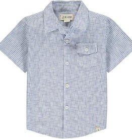 Me & Henry Newport S/S Shirt Blue/White Micro Plaid 2/3-12