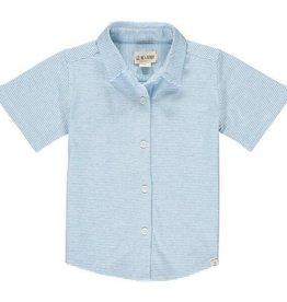 Me & Henry Tiller Jersey Shirt Blue/White Micro Stripe 2/3-12