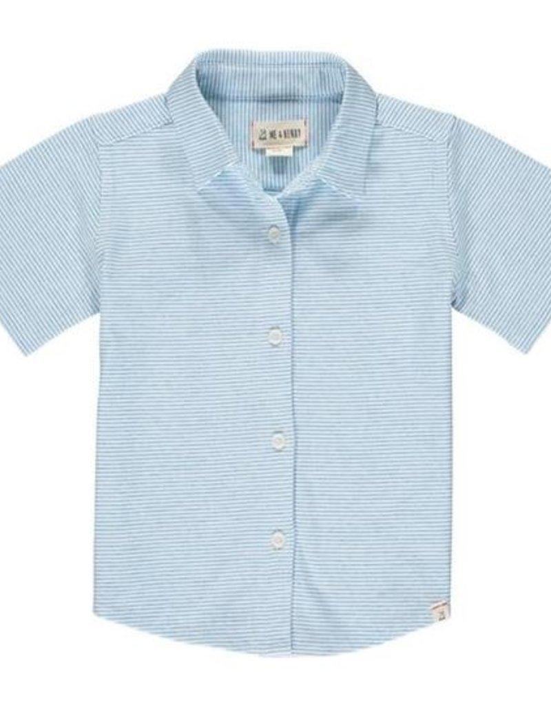 Me & Henry Tiller Jersey Shirt Blue/White Micro Stripe
