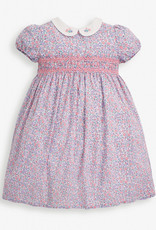 JoJo Maman BeBe Ditsy Smocked Dress Pastel