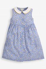 JoJo Maman BeBe Ditsy Shirt Dress Blue