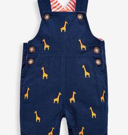 JoJo Maman BeBe Embroidered Giraffe Dungarees