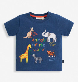 JoJo Maman BeBe Animals of the World Applique Tee 6/12M-5/6