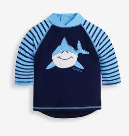 JoJo Maman BeBe L/S Rash Guard Shark 6/12M-5/6
