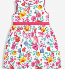 JoJo Maman BeBe Floral Party Dress Pink