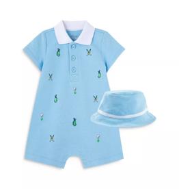Little Me Golf Romper w/Hat  9M