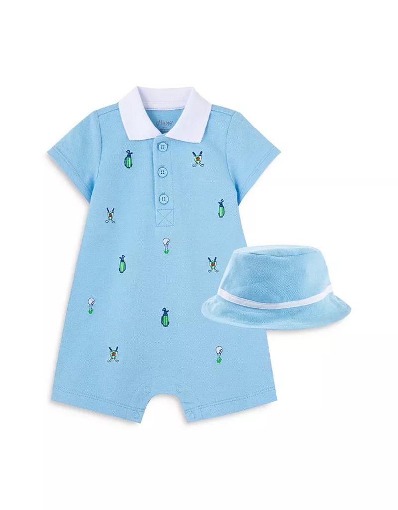 Little Me Golf Romper w/Hat