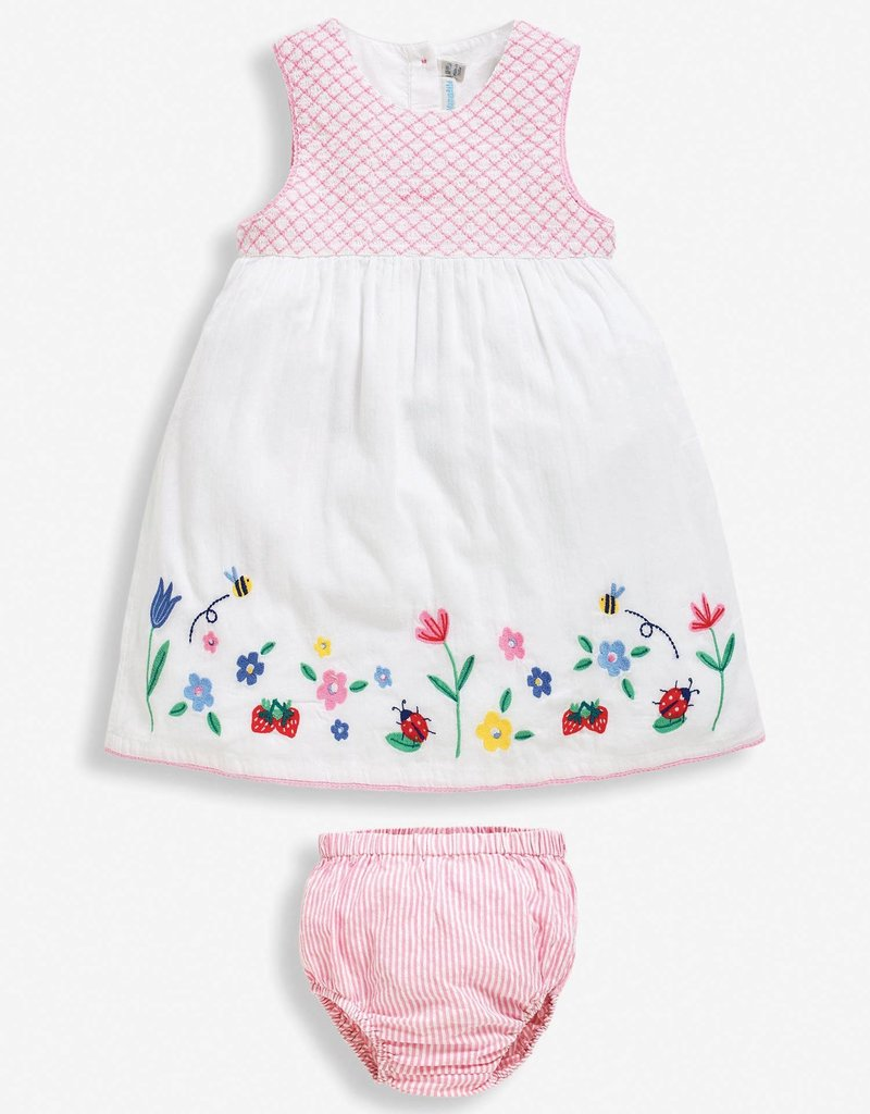 JoJo Maman BeBe Embroidered Dress w/Bloomers