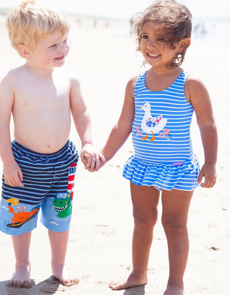 JoJo Maman BeBe Swim Shorts w/Inner Diaper Seaside