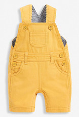 JoJo Maman BeBe Twill Short Dungarees Yellow