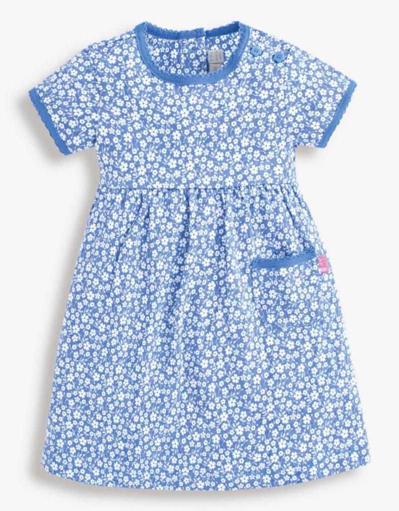 JoJo Maman BeBe Floral Summer Dress Cornflower