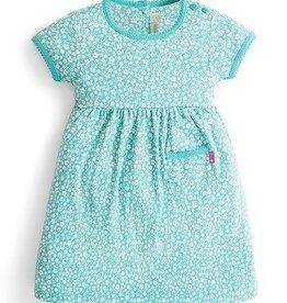 JoJo Maman BeBe Floral Summer Dress Duck Egg 6/12M-5/6