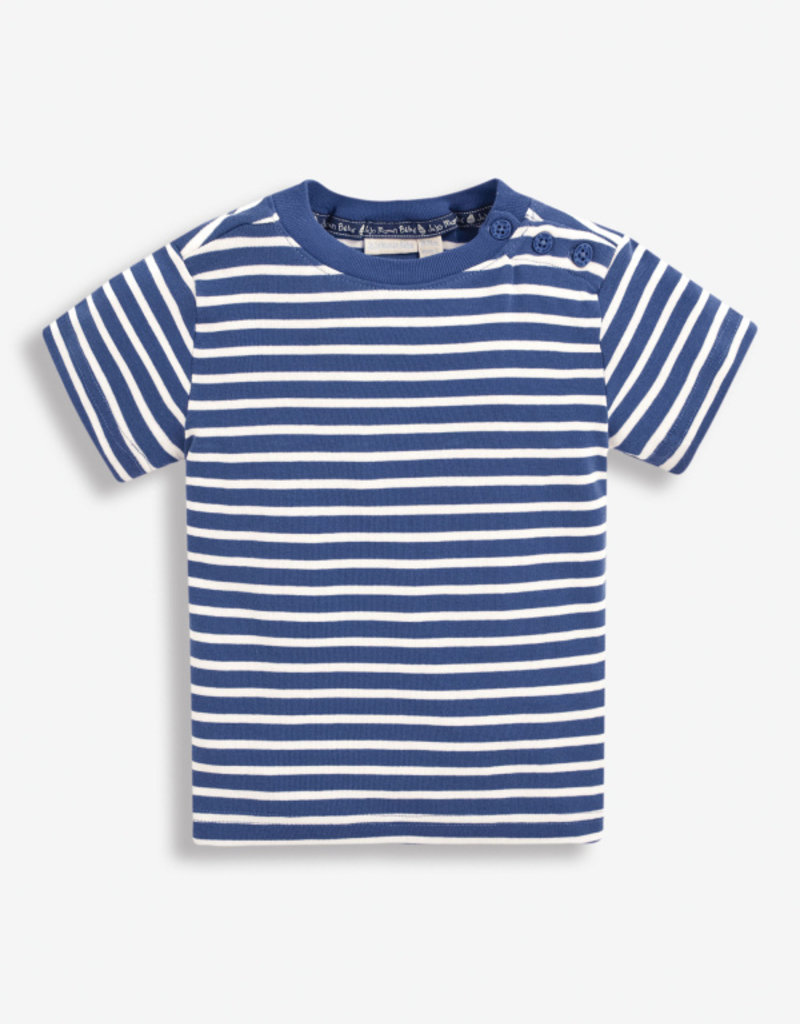 JoJo Maman BeBe Brenton Navy Stripe T Shirt