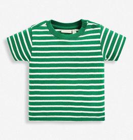JoJo Maman BeBe Brenton Green Stripe T Shirt 6/12M-5/6