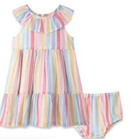 Little Me Multi Stripe Sun Dress Set