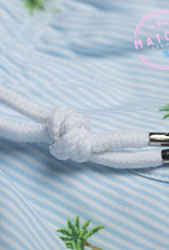 Bermies Palm Stripes Swim Trunks