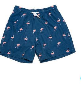 Bermies Miami Flamingo Swim Trunks 2-12