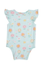 Angel Dear Hello Daisy Blue Ruffle Slv Onesie