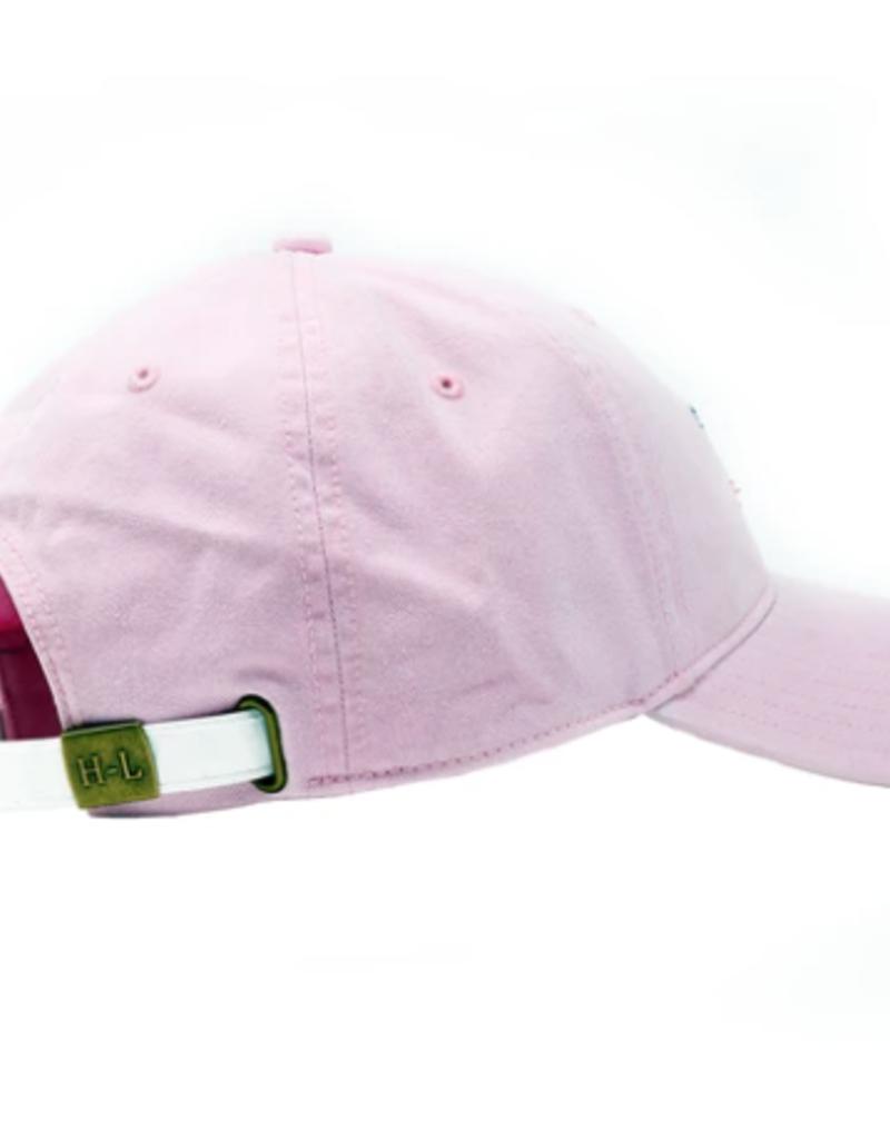 Harding Lane Baseball Cap Light Pink w/Pink Bunny