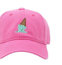 Harding Lane Baseball Cap Bright Pink w/Ice Cream