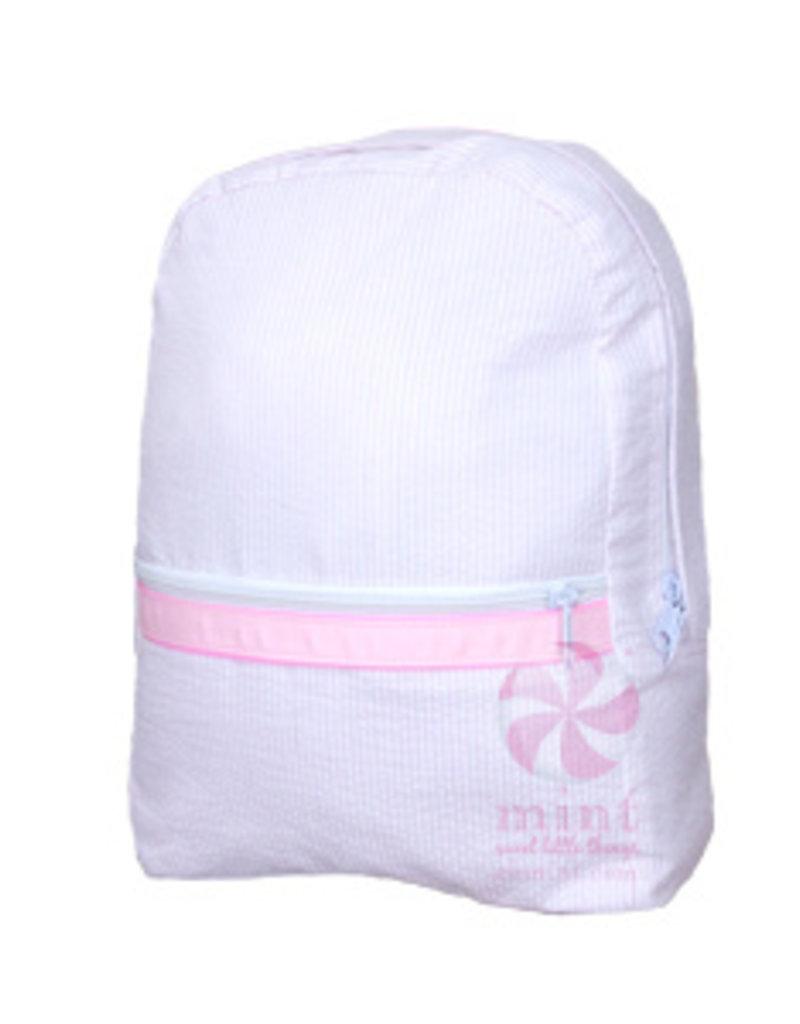 Mint Sweet Little Things Small Backpack Lilac Seersucker