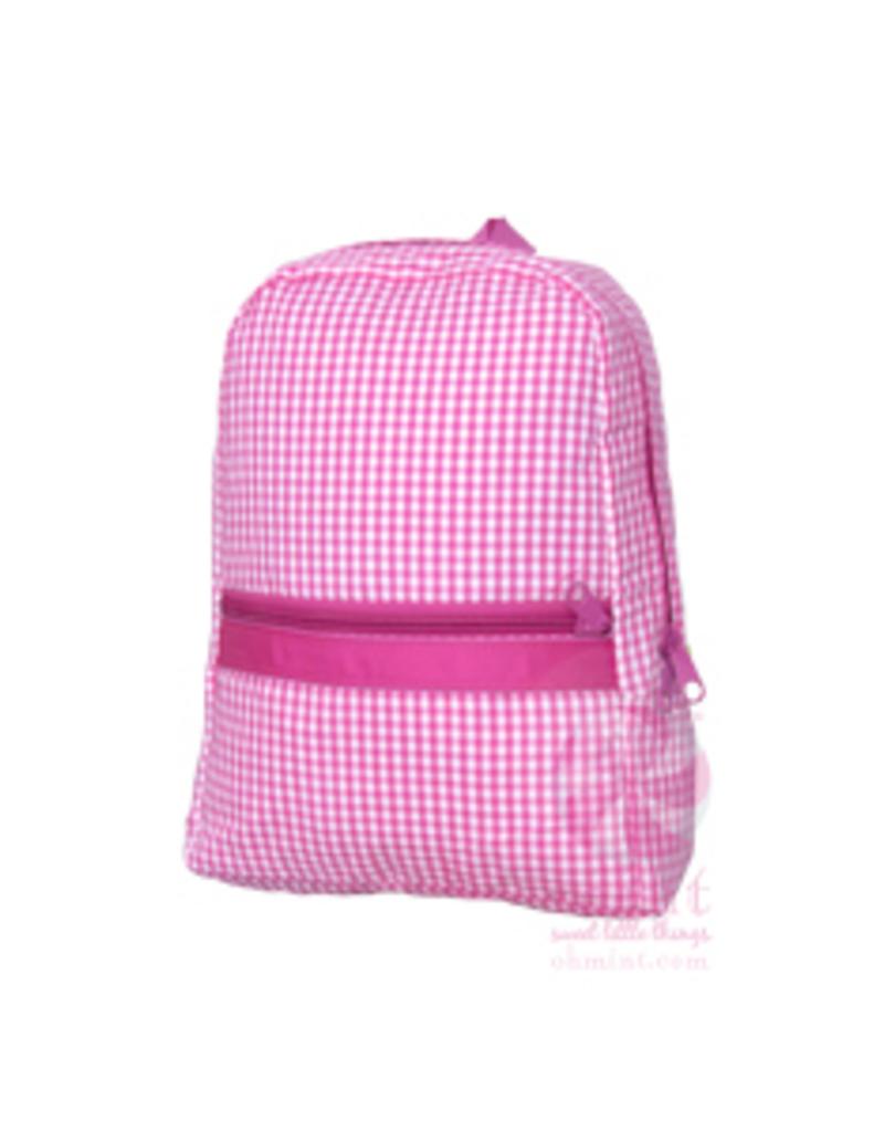 Mint Sweet Little Things Small Backpack Hot Pink Seersucker