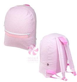 Mint Sweet Little Things Med Backpack Pink Seersucker