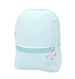Mint Sweet Little Things Med Backpack Mint Seersucker