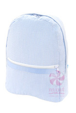 Mint Sweet Little Things Med Backpack Baby Blue Seersucker