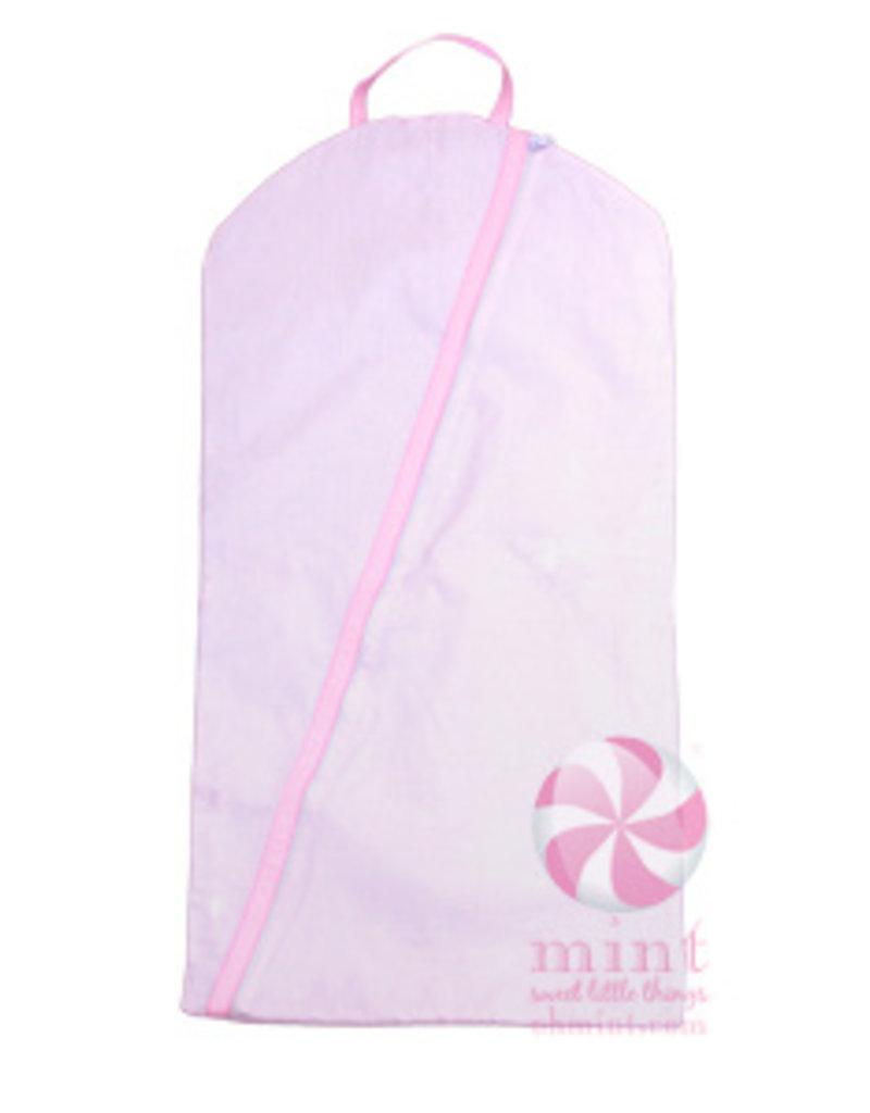 Mint Sweet Little Things Hanging Garment Bag Pink Seersucker
