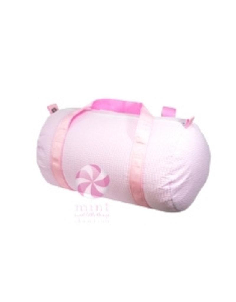 Mint Sweet Little Things Med Duffel Pink Seersucker