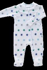 Jennifer Ann Blue Stars Organic Footie