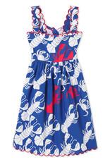 Classic Prep Quinn Dress Lobster Invasion Print w/Scallop