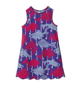 Classic Prep Piper Scallop Dress Fishy Fishy Print
