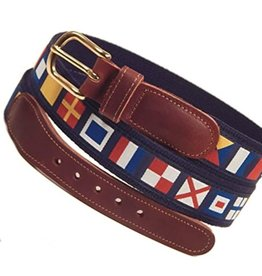 Preston Preston Leather Belt w/Code Flags