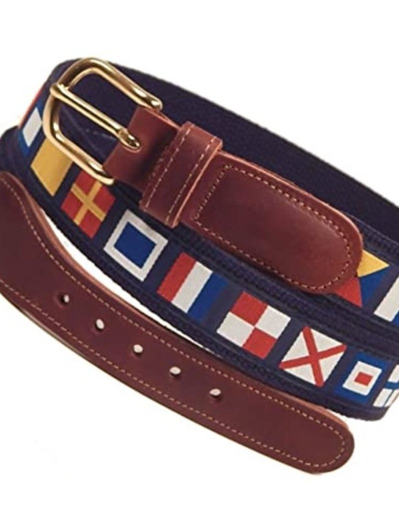 Preston Preston Leather Belt w/Code Flags
