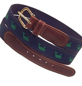 Preston Preston Leather Green Belt w/Green Whale
