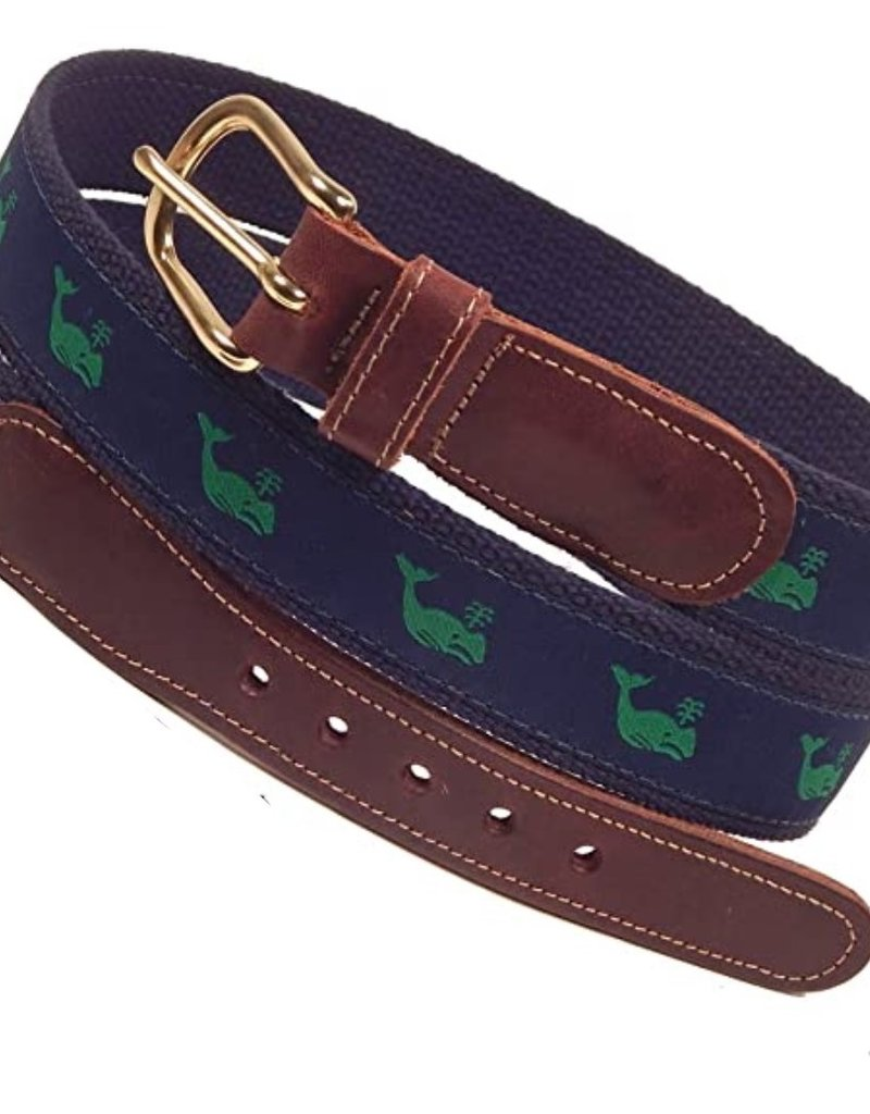 Preston Preston Leather Green Belt w/Green Whale