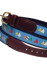 Preston Preston Leather Belt w/Rainbow Fleet