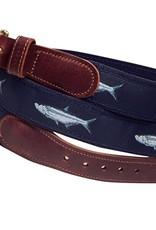 Preston Preston Leather Tan Belt w/Tarpon
